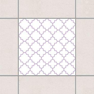 Adesivo per piastrelle - Traditional Quatrefoil White Lavender 25cm x 20cm