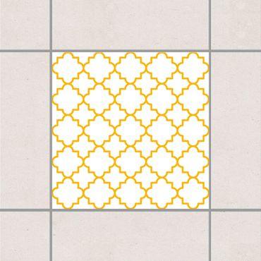 Adesivo per piastrelle - Traditional Quatrefoil White Melon Yellow 25cm x 20cm