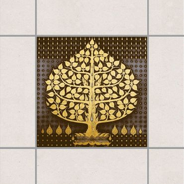 Adesivo per piastrelle - Tree of Dreams 15cm x 15cm