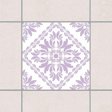 Adesivo per piastrelle - Vera Pink White Lavender 25cm x 20cm