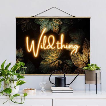 Foto su tessuto da parete con bastone - Elisabeth Fredriksson - Wild Thing Golden Leaves - Orizzontale 3:4