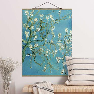 Foto su tessuto da parete con bastone - Vincent Van Gogh - Mandorlo in Fiore - Verticale 4:3