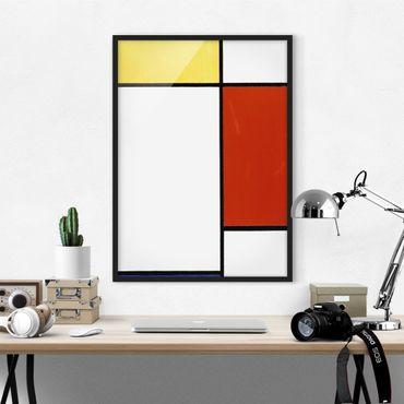 Poster con cornice - Piet Mondrian - Composition I - Verticale 4:3
