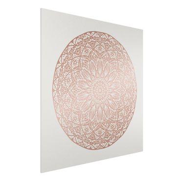 Stampa su Forex - Mandala Ornament In Rame Oro - Quadrato 1:1