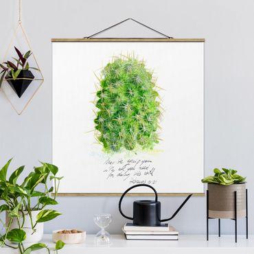 Foto su tessuto da parete con bastone - Cactus Con I versetti biblici - Quadrato 1:1