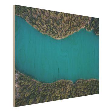Quadro in legno - Veduta aerea - Deep Blue Sea - Orizzontale 4:3
