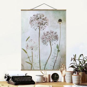 Foto su tessuto da parete con bastone - Porro Flowers In pastello - Verticale 4:3
