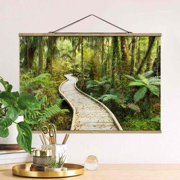 Foto su tessuto da parete con bastone - Percorso In The Jungle - Orizzontale 2:3