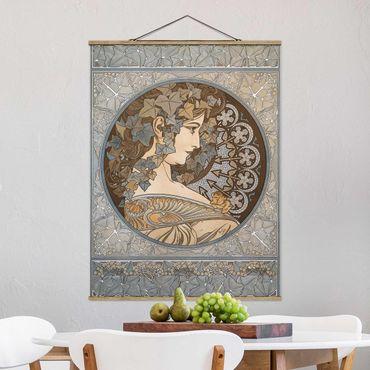 Foto su tessuto da parete con bastone - Alfons Mucha - Synthia - Verticale 4:3