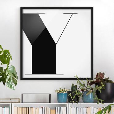 Poster con cornice - Antiqua Letter Y - Quadrato 1:1