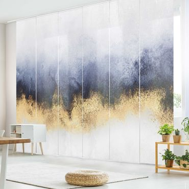 Tende scorrevoli set - Elisabeth Fredriksson - Cielo nuvoloso con oro - 6 Pannelli