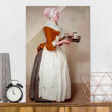Quadro in vetro - Jean Etienne Liotard - La ragazza del cioccolato - Verticale 3:2