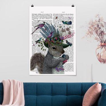 Poster - Fowler - Scoiattolo con le ghiande - Verticale 3:2