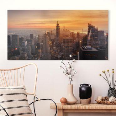 Stampa su tela - Manhattan Skyline Evening - Orizzontale 2:1