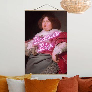 Foto su tessuto da parete con bastone - Pittura grande sogno - Verticale 3:2