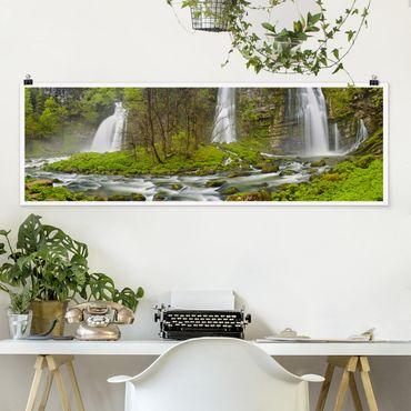 Poster - Cascate Cascade De Flumen - Panorama formato orizzontale