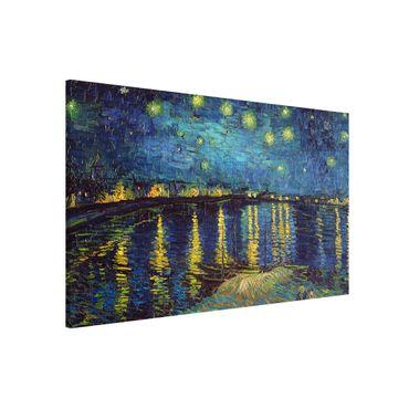 Lavagna magnetica - Vincent Van Gogh - Notte stellata sul Rodano - Formato orizzontale 3:2