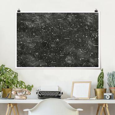 Poster - Constellation Mappa Ottica pannello - Orizzontale 2:3
