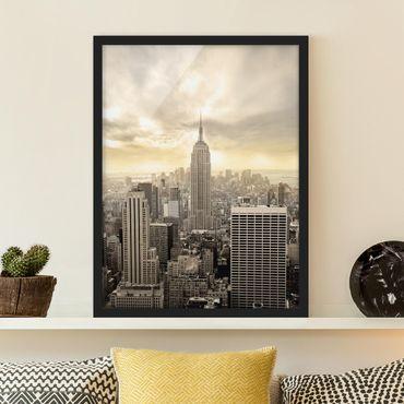 Poster con cornice - Manhattan Dawn - Verticale 4:3