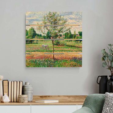 Stampa su legno - Camille Pissarro - Prato con la muffa - Quadrato 1:1