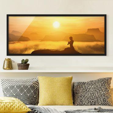 Poster con cornice - Meditazione Yoga - Panorama formato orizzontale