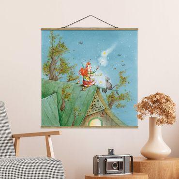 Foto su tessuto da parete con bastone - Frida e gatto Pumpernickel Set The Star Gratis - Quadrato 1:1