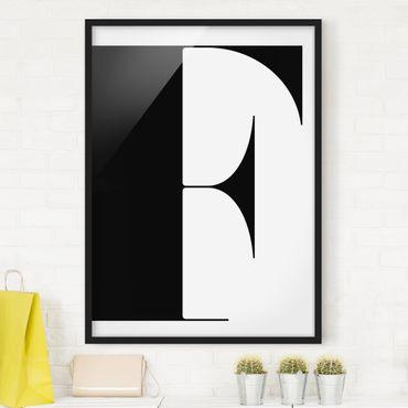 Poster con cornice - Antiqua Letter F - Verticale 4:3