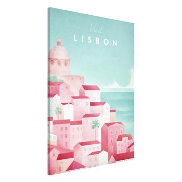 Lavagna magnetica - Poster viaggio - Lisbona - Formato verticale 2:3