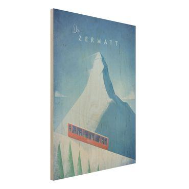 Stampa su legno - Poster di viaggio - Zermatt - Verticale 4:3