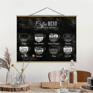 Foto su tessuto da parete con bastone - caffè Lavagna - Orizzontale 3:4