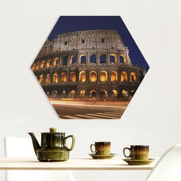 Esagono in forex - Colosseo a Roma di notte