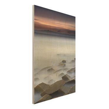 Quadro in legno - Tramonto Nella Nebbia - Verticale 2:3