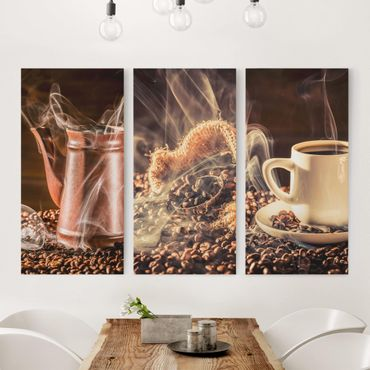 Stampa su tela 3 parti - Coffee - Steam - Verticale 2:1