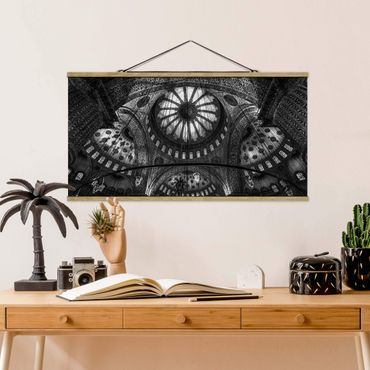 Foto su tessuto da parete con bastone - Le cupole della Moschea Blu - Orizzontale 1:2