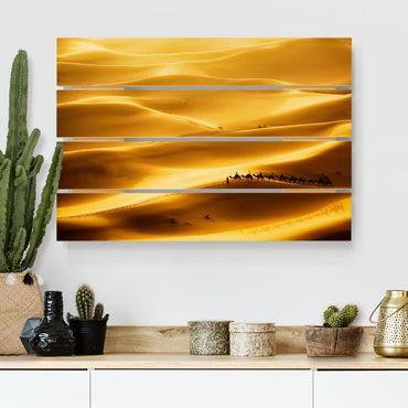 Stampa su legno - dune dorate - Orizzontale 2:3