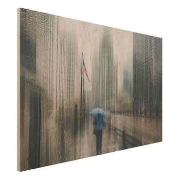 Quadro in legno - Rainy Chicago - Orizzontale 3:2