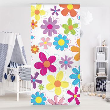 Tenda a pannello Retro Flowers 250x120cm