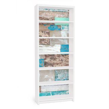 Carta adesiva per mobili IKEA - Billy Libreria - Maritime Planks