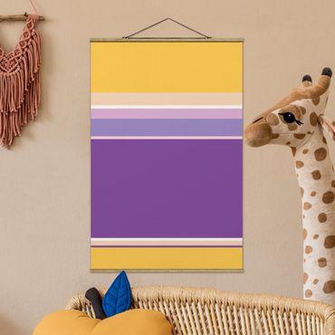 Foto su tessuto da parete con bastone - Film Poster Rapunzel - Verticale 3:2