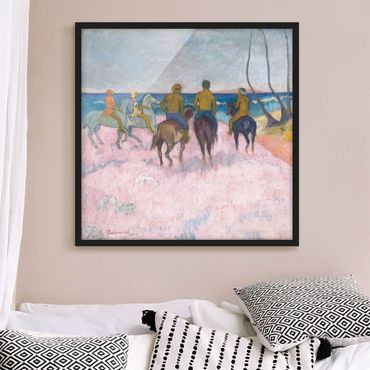 Poster con cornice - Paul Gauguin - Rider At The Beach - Quadrato 1:1