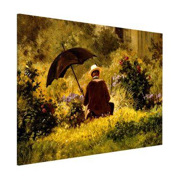 Lavagna magnetica - Carl Spitzweg - Il Pittore In The Garden - Formato orizzontale 3:4