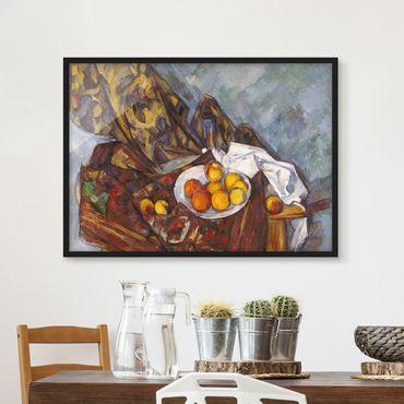 Poster con cornice - Paul Cézanne - Still Life Fruit - Orizzontale 3:4