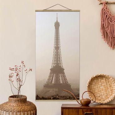 Foto su tessuto da parete con bastone - Tour Eiffel - Verticale 2:1