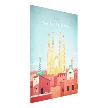 Stampa su Forex - Poster viaggio - Barcellona - Verticale 4:3