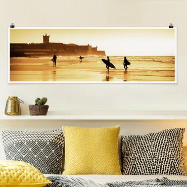 Poster - Surfer Beach - Panorama formato orizzontale