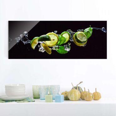 Quadro in vetro - Mojito ingredients - Panoramico
