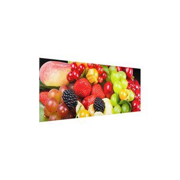 Quadro in vetro - fruit mix - Panoramico