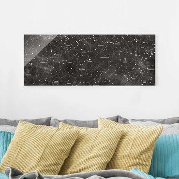 Quadro in vetro - Constellation map panel optics - Panoramico