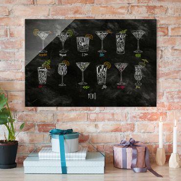 Quadro in vetro - cocktail Menu - Orizzontale 3:2
