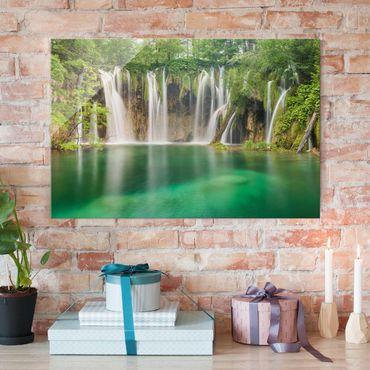 Quadro in vetro - Waterfall Plitvice Lakes - Orizzontale 3:2